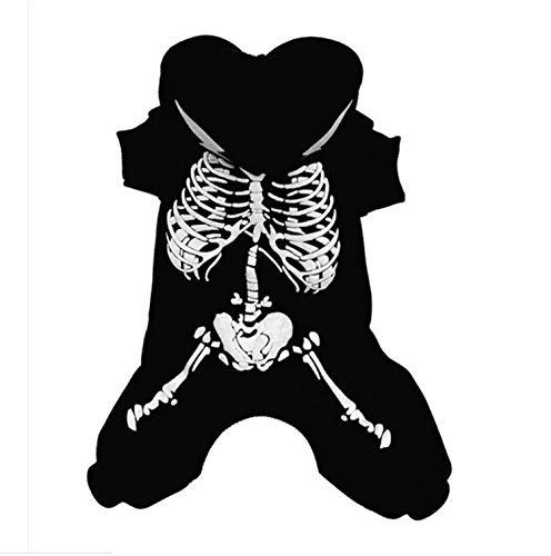Lustige Persönlichkeit Pet Kleidung Herbst Nette Elektroschock Drachenschädel Halloween Hundemantel Geeignet Für Kleine Und Mittlere Hunde
