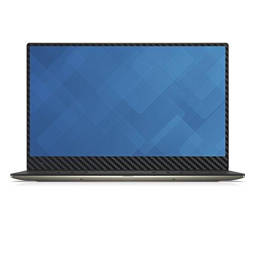 """Black Carbon Fiber Skin Decal wrap Skin Case for Dell XPS 9550 15 15.6"""" Laptop"""
