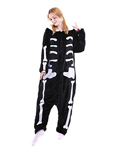Yimidear® Unisex Pigiama Adulto Animale Cosplay Halloween Costume Attrezzatura (Skeletons, M)
