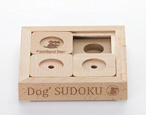 My Intelligent Dogs Interaktives Hundespielzeug aus Holz Dog' Sudoku Basic, S Naturholz