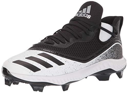 adidas Men's Icon V Bounce TPU Cleats Softball Shoe, FTWR White/core Black/core Black, 13.5 M US