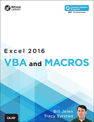 Excel 2016 VBA and Macros (includes Content Update Program) (MrExcel Library) (English Edition)