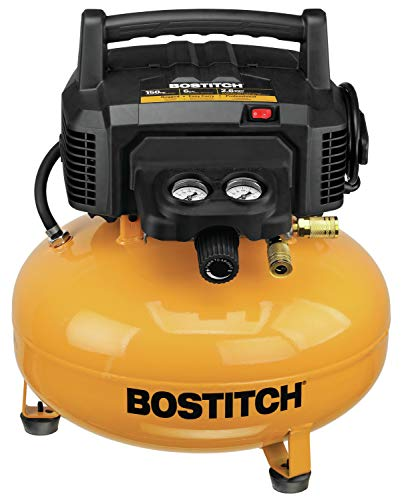 BOSTITCH Pancake Air Compressor, Oil-Free, 6 Gallon, 150 PSI...