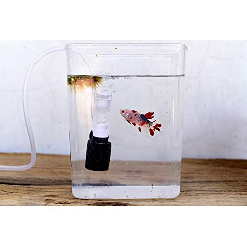 Etophigh Vis Tank Super Mute Kleine Pneumatische Filter Accessoires, Aquarium Biochemische Sponge Hoek Filter Mini Filter Vis Tank Pomp Zuurstof Accessoires, Meerkleurig
