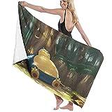 ZDmood Toalla de baño de Microfibra Snorlax Yoga portátil de la natación de la Aptitud de la Toalla de Playa de Secado rápido 80X130CM