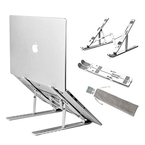 """Leadwin Laptop Stand,Adjustable Ventilated Laptop Riser,Lightweight Desktop Laptop Holder,Portable MacBook pro Stand Also Compatible with iPad, HP, Dell, Lenovo More 10-15.6"""" Laptops"""