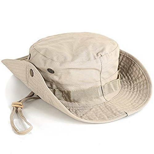 Weimay Sombrero de camuflaje Sombrero Estampado De Camuflaje Sombrero de protección redondeado de pescador Acampada Senderismo Deporte al Aire Libre Hombres Tactica Mujeres Tampón
