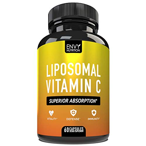 Liposomal Vitamin C Capsules - with Ascorbic Acid for Superior Absorption - High Dose Vitamin C Supplement for Adults - Immunity, Defense, Vitality - 1200mg - 60 Capsules