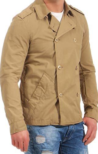 Patrizia Pepe Trench Desert Beige Jacke Trenchcoat Stil Neu Herren Jacket 48 50 52 (52)