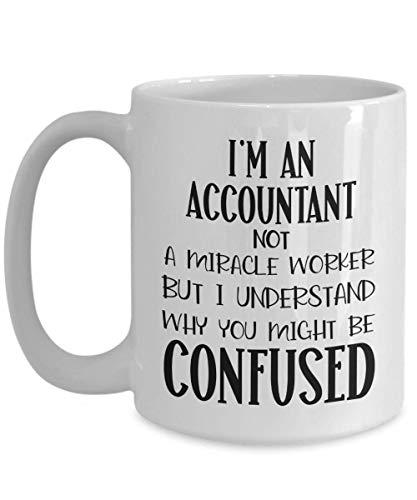 Caneca de contador apreço agradecimento presente para contadores presentes para mulheres, não um milagre trabalhador, canecas de café engraçadas de contabilidade para presentes de colegas de trabalho f