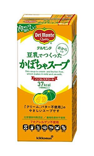 キッコーマン飲料 デルモンテ 豆乳でつくったかぼちゃスープ 1L ×6本