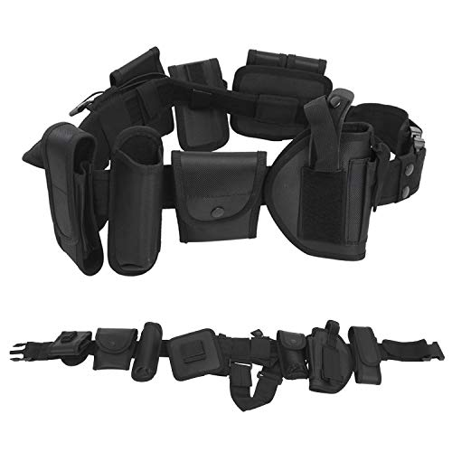 Amarine Made Tactical Belt Modular Heavy Duty Belt Utility Belt with Pouches Holster Gear&Adjustable Nylon Belts with Quick-Release Metal Buckle Waist Pouch Snap Hook Strap