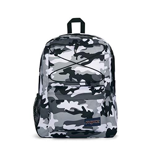 Jansport Flex Pack - School, Work, Travel, or Laptop Backpack with Mesh Water Bottle Pocket, Buckshot Black Camo