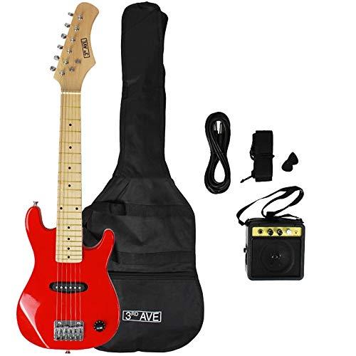 3rd Avenue STX30RDPK Junior E-Gitarren Pack mit Gitarrenverstärker - Rot