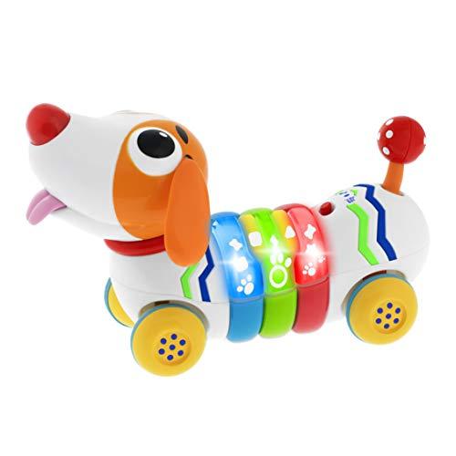 Chicco DogReMi Funkgesteuerter Hund, Interaktives Bellendes und Laufendes Spielzeug mit Lichtern und Geräuschen, 2-Wege-Fernbedienung, Interaktives Spielzeug für Kinder, 18 Monaten bis 4 Jahre