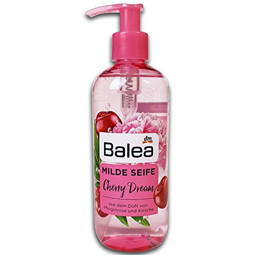 Balea Milde Seife Cherry Dream, 300ml Flüssigseife Handseife Pfingstrose Kirsche