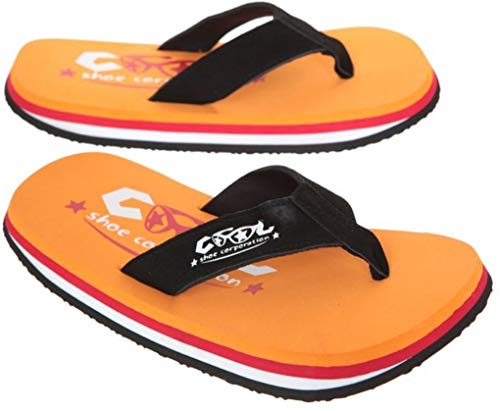 Cool Shoes Original Pi ORANGE Flip Flops Sandalen Zehentrenner Strandlatschen Badeschlappe (35/36)