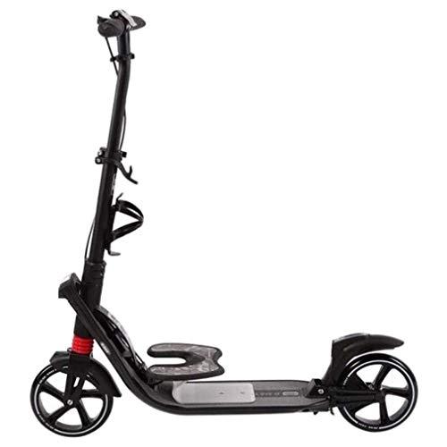 Scooter Patinete Aire libre que monta portátiles scooter de Adultos / Adolescentes kick scooter con ruedas grandes y el freno de mano, fácil plegable de doble suspensión kick scooter, Soporte 220 libr
