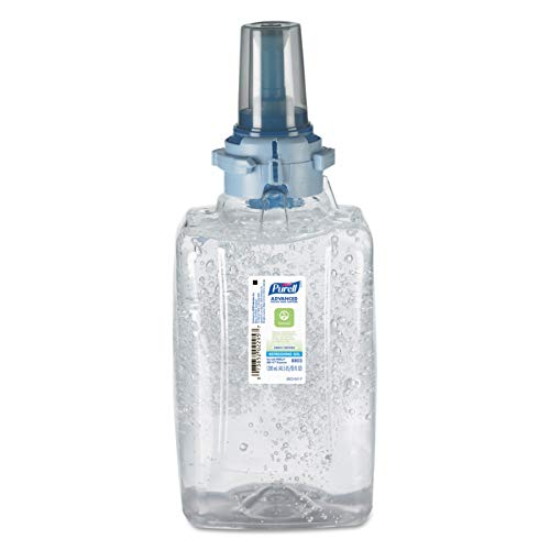 PURELL 880303CT Advanced Green Certified Hand Sanitizer Gel Refill, 1200mL, FragFree (Case of 3)