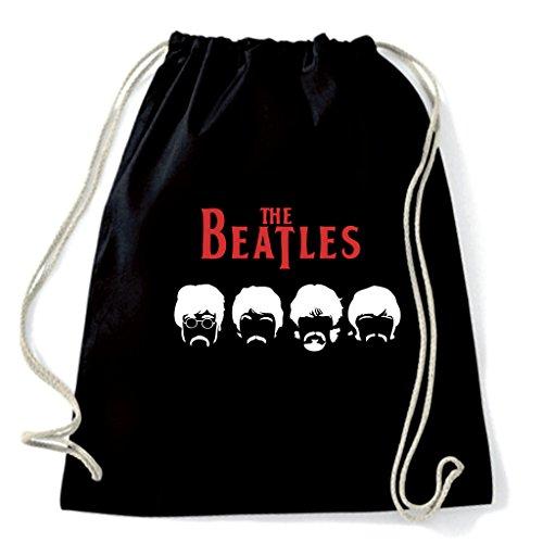 Mochila tipo bolsa de Los Beatles, bigote negro Talla única