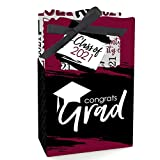 Big Dot of Happiness Maroon Grad - Best is Yet to Come - Burgundy 2021 Graduation Party Favor Boxes - Set of 12