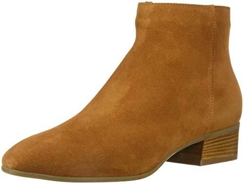 Aquatalia Women's Fuoco Suede Ankle Boot, bark, 9 M US