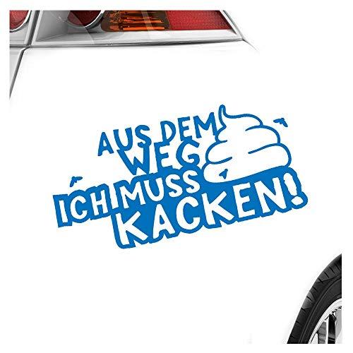 KIWISTAR Aufkleber - Aus dem Weg Muss kacken! Shit Klo Termin - Autoaufkleber Sticker Bomb Decals Tuning Bekleben