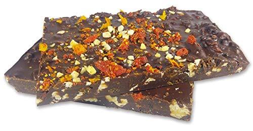 Edelmond Gewürz Schokoladen Bruch. Nüsse, viel Trockenfrucht und kräftige Kakaobohnen. 180 g Superfood