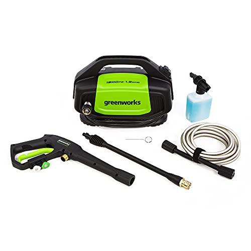 Greenworks 1500 PSI 1.2 GPM Electric Pressure Washer, GPW1502