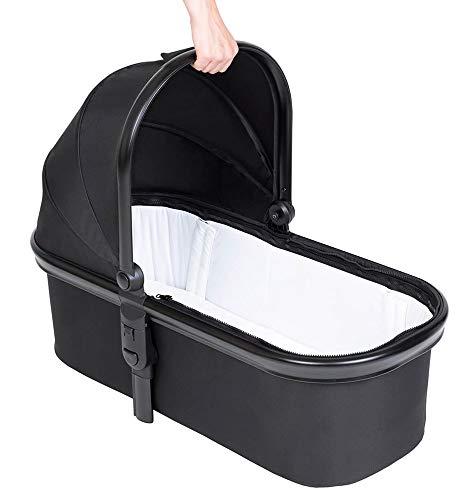 Phil&teds snug™ Babywanne (Carrycot) passt für Kinderwägen Dot, Sport, Dash, Voyager V6 2019+ mit Abdeckung in der Farbe black