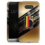 Coque Compatible avec LG G5 Étui Housse Football Diables Rouges RBFA
