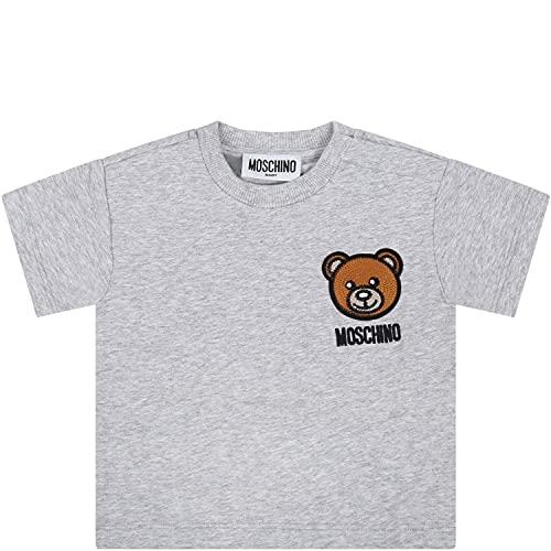 Moschino - Camiseta gris para recién nacidos con Teddy Bear – 6...