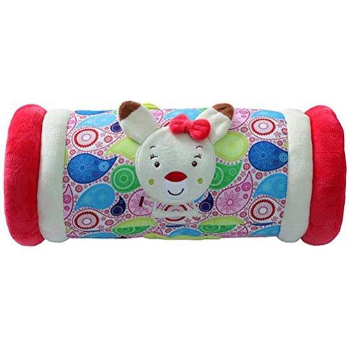 Krabbelrolle Baby Kissen, Stoff Rolle Hilft Babys bei ersten Krabbel- & Gehversuchen Fitness Spielzeug Krabbeln Roller Kissen 34cm