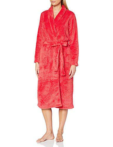 Schiesser Damen Morgenmantel, 120cm Bademantel, rot, 36