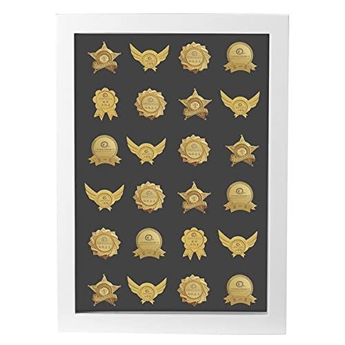 Estante de exhibición Coleccionable para medallas, Medalla de desafío, Caja de Monedas, estantes de Almacenamiento de Madera, Soporte de exhibición de Monedas de Regalo, Color Blanco, r1