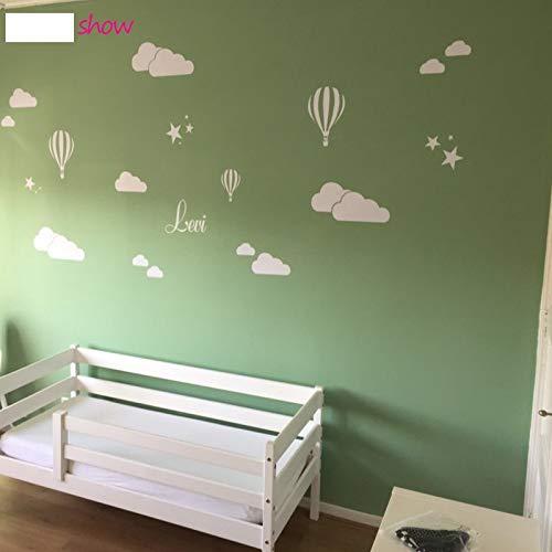PISKLIU Muurstickers Muurfiguren Luchtballon Muursticker Decoratie Kunst Sticker Laptop Tv achtergrond Muursticker Wooncultuur 79X57 cm