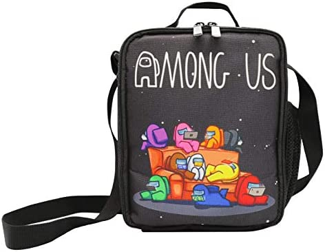 Among us Kids Lunch Bag Insulated Lunch Box for Boys and Girls Durable Kids LunchBox Tough Spacious product image