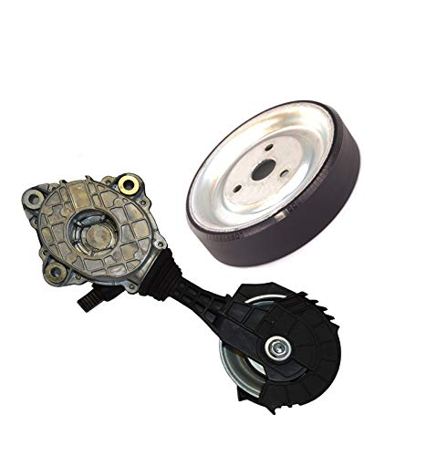 Hamburg-Technic for Mini Cooper Water Pump Pulley Friction Wheel 11517619020 + 11287598833 Set of 2