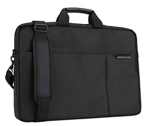Acer Notebook Carry Case (geeignet für bis zu 17,3 Zoll Notebooks / Chromebooks: Universelle Schutzhülle mit Schultergurt, - und polsterung, Gurt zum Befestigen an Trolley, extra Fronttasche) schwarz