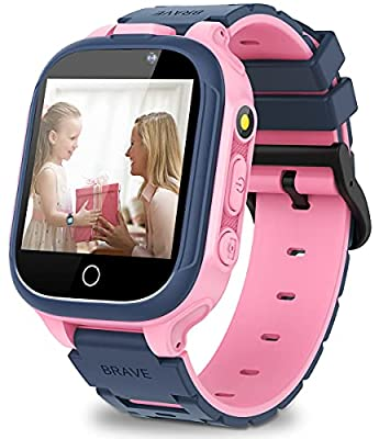 """Kids Smart Watch for Boys Girls, Game Smartwatch with Memory Card Double Camera Video Recording Music Player 14 Puzzle Games Pedometer 12/24 Hr 1.44"""" Touch Screen Child Watch Educations Learning Toys from MiKin"""