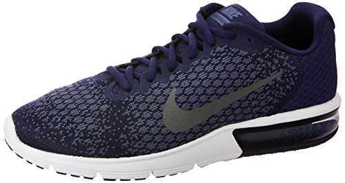 Nike Air MAX Sequent 2, Zapatillas de Deporte para Hombre, Multicolor (Binary Blue/Dark Grey/Dark Obsidian 406), 45.5 EU