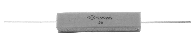 NTE Electronics Popular popular 25W3D9 Cermet Wire 5% Wound Resistor Portland Mall Tolerance