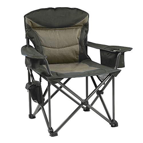 Silla de camping con portavasos \u0026 bolsa de transporte, para ocio al aire libre, plegable, ligera portátil + descanso para el almuerzo al aire libre + reclinación fiable moderno Size 3
