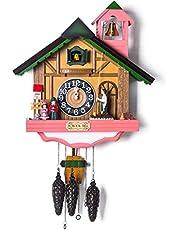 SXFJF Los Relojes De Cuco, Hechos A Mano De Madera Cucú De Cuarzo Clocks- Granja Estilo Decoración del Hogar, Números Árabes Dial, 52 × 48 × 17 Cm