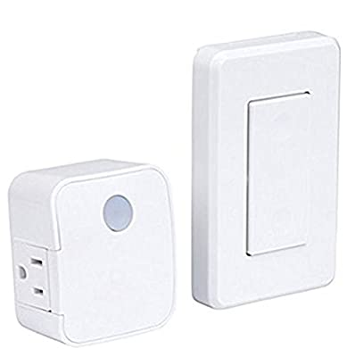 Westek RFK1600LC Indoor Wireless Switch, Single Outlet, White
