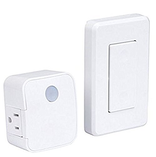 Westek New Model RFK1600LC replaces RFK100LC/RFK101LC Wall Mounted Switch and Plug-in Receiver (Pack of 2)