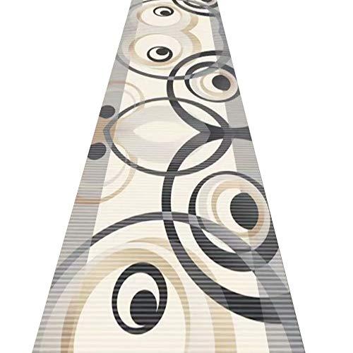 ZRUYI Alfombras De Pasillo Largo Entrada Felpudos Moqueta Corredor Estilo Artistico Casa Pasillo Salón Cocina Habitación Moderno, Personalizar Talla (Color : A, Size : 0.6x1.2m)