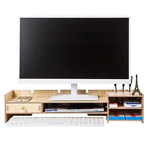 Monitor de computadora Soporte de Estante Aumentado Pantalla de Base Suministros de Oficina Escritorio GE Box Teclado Estante de Acabado