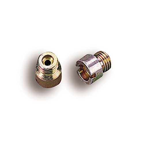 Holley Performance 122-52 Carburetor Jet; Standard Main Jet; 1/4-32 UNF Thread; Hole Size 0.052 in.; Pair;