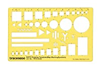 Traceease Drafting NATO Drawing Template Drawing Stencil,Designing Template Measuring Ruler